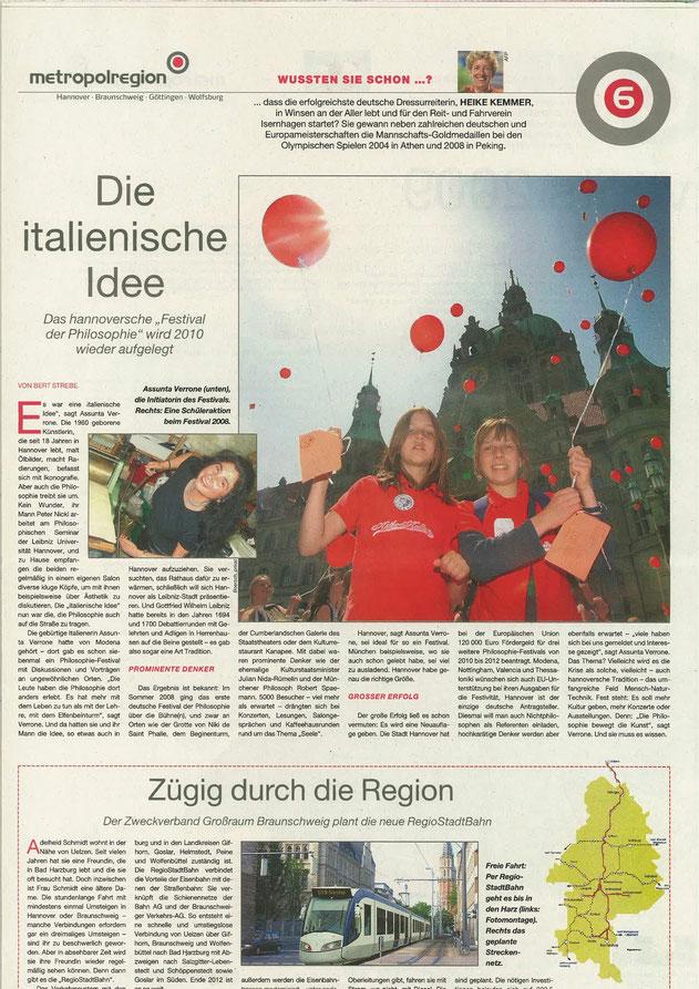 Ausgabe Nr. 1, Juni 2009 von Nachrichten der Metropolregion Hannover Braunschweig Göttingen Wolfsburg