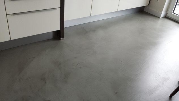 Beton Floor im Küchenbereich