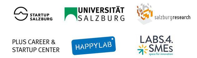 Mit Unterstützung von: Startup Salzburg. Universität Salzburg. Happylab Salzburg. Salzburg Research. Plus Career & Startup Center.