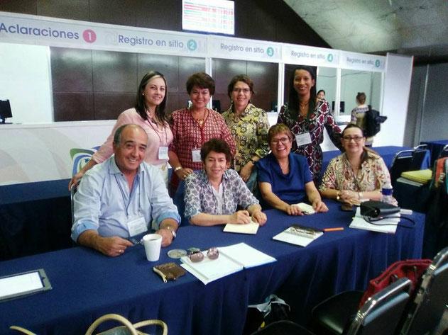 Grupo Coordinador de RIIEE, Durante el XV  Coloquio Panamericano de Investigación en Enfermería. México  DF. 2016