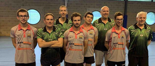 Romain, Sylvain, Florent, Thibaut, Jean-Marie, Fabrice, Johan et Thierry