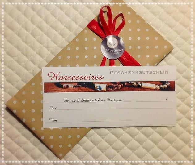 Schmuck aus Pferdehaar - Geschenkgutschein von Horsessoires
