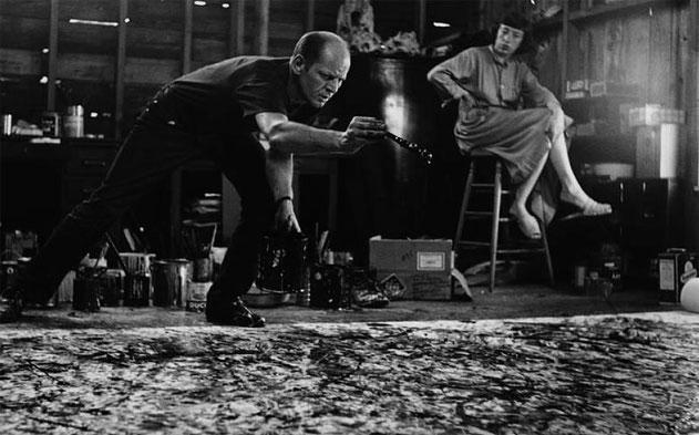 Técnica 'Action Painting' de Jackson Pollock.