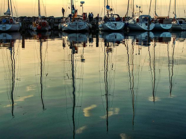 Timmendorf Hafen Sonnenuntergang