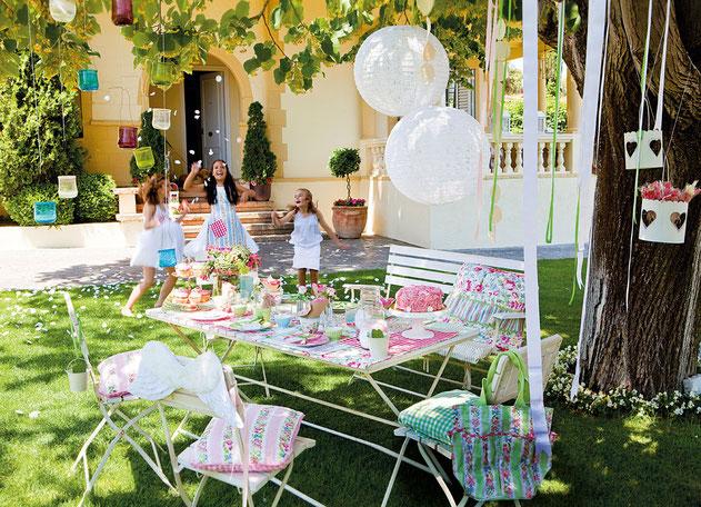 cumpleaños fiesta en jardin