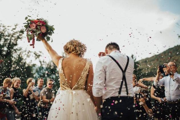 recepción de la boda