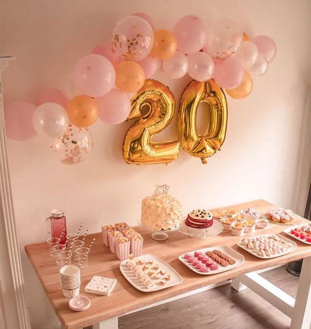 decoracion cumpleaños 20 años
