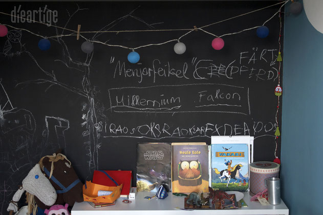 dieartigeBLOG - Tafelwand im Kinderzimmer