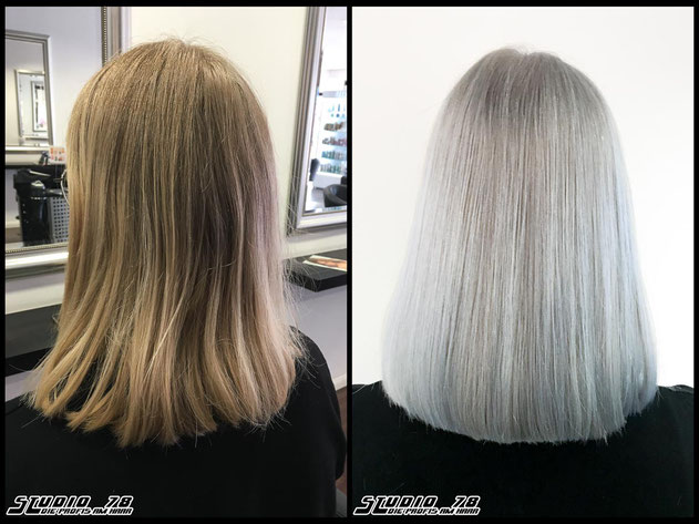 Coloration Haarfarbe haircolor blonde whiteblonde bright-white-blonde icecold-blonde hellblond eisblond iceblonde haircolor blond coloration vorher nachher