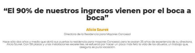Alicia Szurek Soler Dtra. Residencia Mayores Concesol
