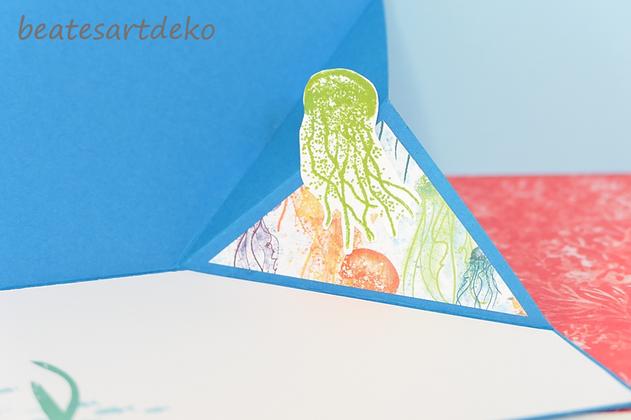 beatesartdeko | Fortsetzung von der Produktreihe Meereswelt | Projekt 2 | Karte 1 | Besondere Faltkarte