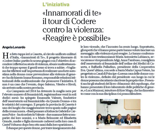 Da IlMattino Caserta del 15/05/2016
