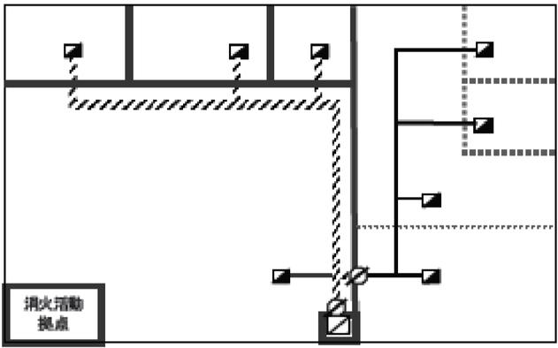 排煙用の風道に自動閉鎖装置を設けたダンパーを設置せず耐火ダクトを用いる例