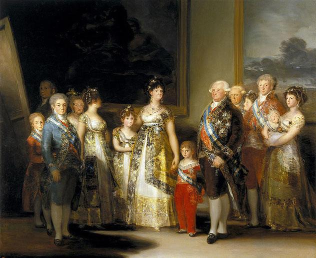 《カルロス4世とその家族》(1800年)