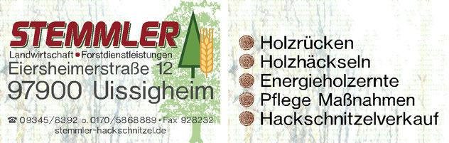 Reiner Stemmler - Landwirtschaft, Forstdienstleistungen, Hackschnitzel