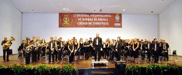 Blaskapelle Meeder beim Internationalen Festival Bandas de Musica