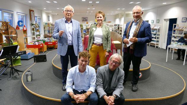 Gastgeberin Kristina Preiß freute sich über die Veranstaltung mit Peter Jäger, Rainer Neumann, Lorenz Jensen und seinem Sohn Kilian.