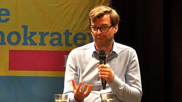 Philipp Rösch, FDP-Direktkandidatfür den Kreis Pinneberg, konnte sich persönlich vorstellen