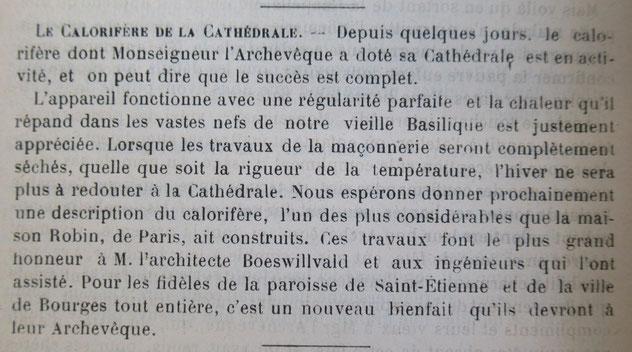 Vu dans la Semaine Religieuse du Berry du 27 octobre 1894