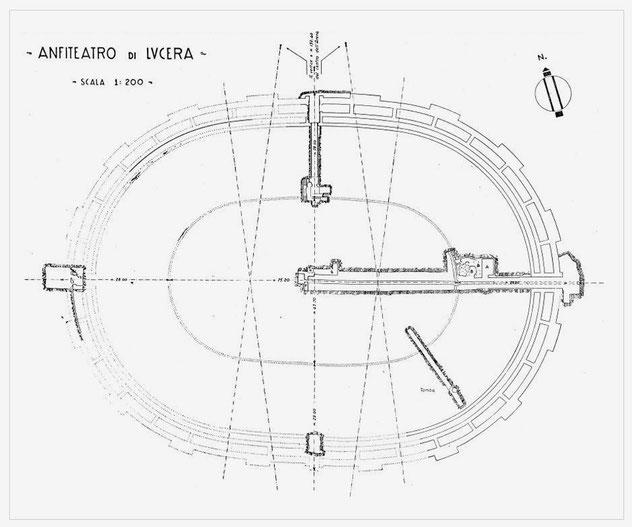 Planimetria generale dell'Anfiteatro di Lucera