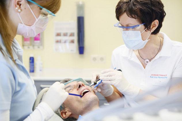 Professionelle Zahnreinigung in der Zahnarztpraxis Honscha Leverkusen