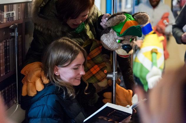 """Поезд-библиотека """"Читающая Москва"""". Фото: godliteratury.ru"""