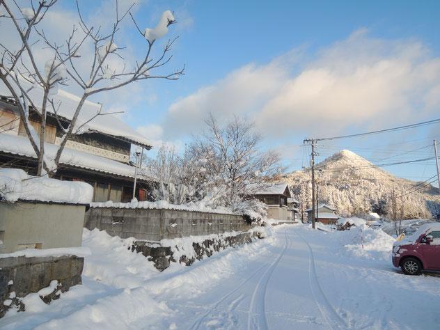 2018年1月12日、千屋アウトドアハウス前の雪景色