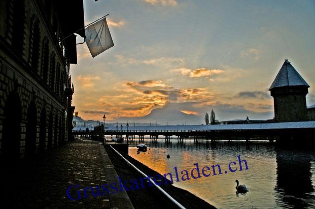 Luzern Fotokarten  Kapellbrücke