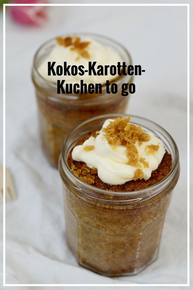 Kokon-Karotten-Kuchen to go - glutenfrei, histaminarm, ohne raffinierten Zucker