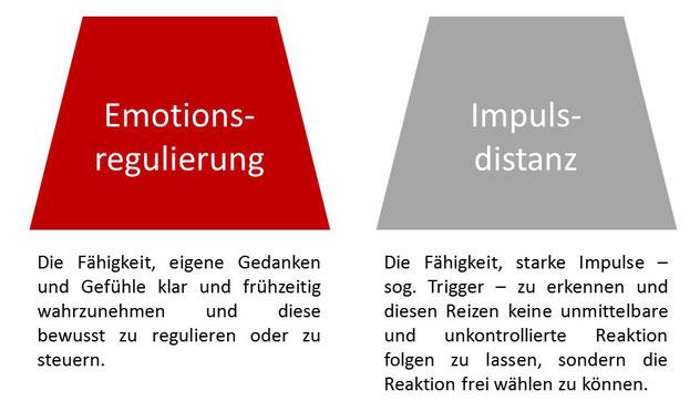 Emotionsregulierung und Impulsdistanz gehören zur Selbstregulierung