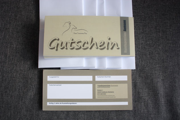 Gutschein Hundepension Aumann