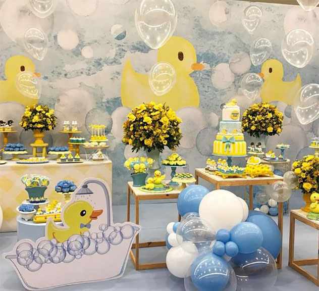 patos decoración para baby shower