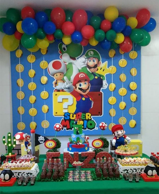 decoracion mario bros