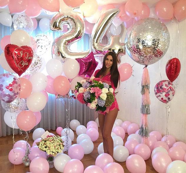 foto de cumpleaños con flores