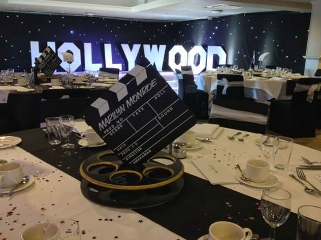 decoracion fiesta hollywood