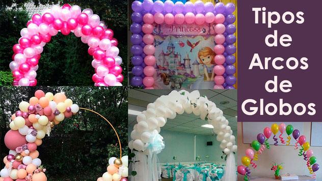 5 tipos de arcos de globos