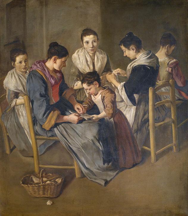 """Giacomo Ceruti, """"Scuola di ragazze"""" (1720-1725 ca.)"""