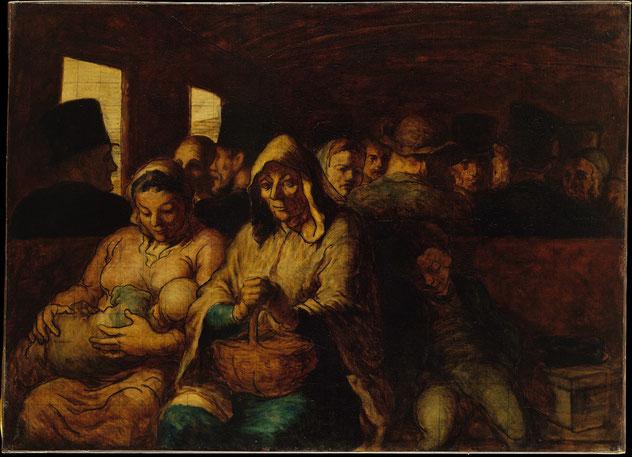 """H. Daumier, """"Il vagone di terza classe"""""""