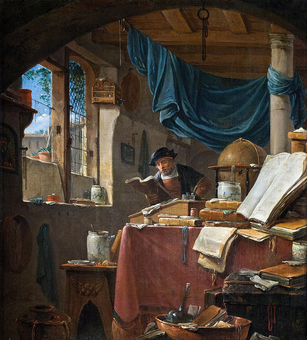 "Thomas Wyck (1616-1677), ""A Scholar in his Study"""