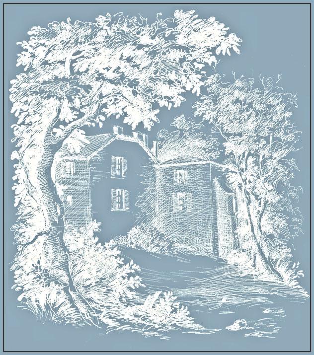 Maison aux contreforts - pondaurat - chambre d'hote pondaurat - chambre d'hote gironde -