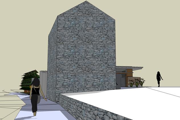 Maison ruelle mosane extension arrière