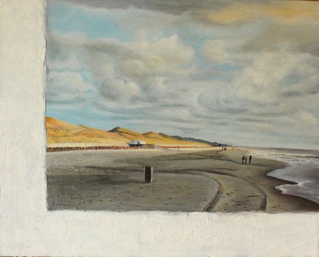 Callantsoog 80 x 100 cm Acryl und Paste auf Leinwand