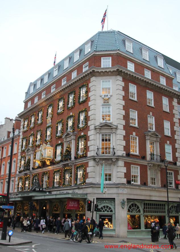 London Shopping Tipps: Die besten Kaufhäuser und Einkaufszentren in London - Fortnum and Mason