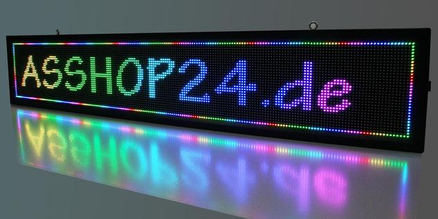 LED-Laufschrift / LED-Display (RGB) 200 cm x 40 cm