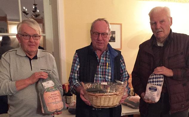 Die ersten Drei beim Penzberger Adventskat von links Manfred Wiegand, Günther Aehlig und Hans-Dieter Jamnitzky.