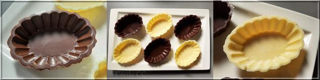 barquette a garnir en chocolat
