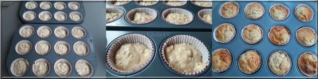mise en moule et cuisson des muffins