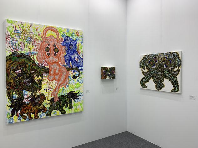 台北當代のホワイトストーン・ギャラリーで展示された小松美羽作品。全作品完売だったような気がする。