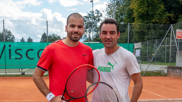 Herren Einzel: Clubmeister Ivan mit dem Zeitplatzierten Dani