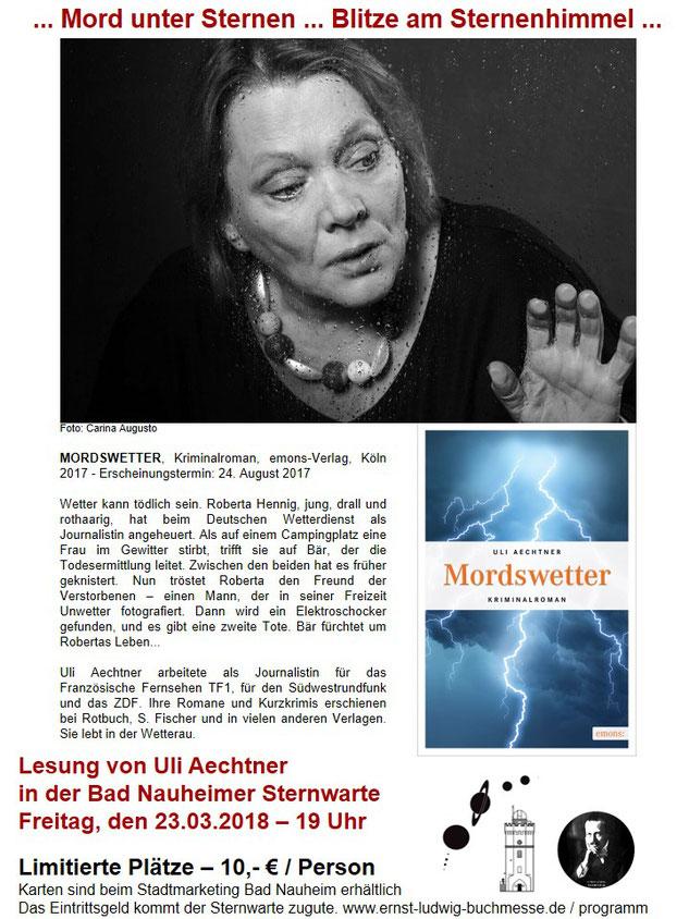 Plakat Lesung Uli Aechtner